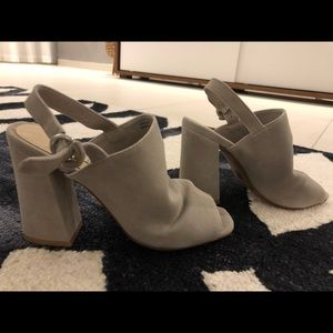 Grey suede chinese laundry heels